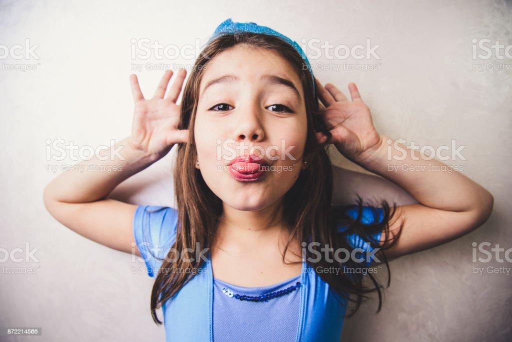 Cute, little ballerina stock photo