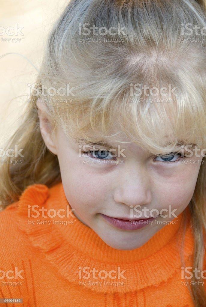 Cute little blond girl royalty free stockfoto