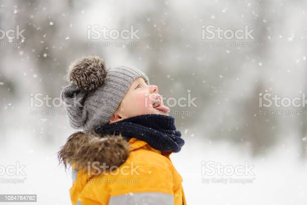 Cute little boy catching snowflakes with her tongue in beautiful picture id1054784762?b=1&k=6&m=1054784762&s=612x612&h=izxkoj0m99faubh2h6g94ufnisjzmuyrfksxd5uls 8=