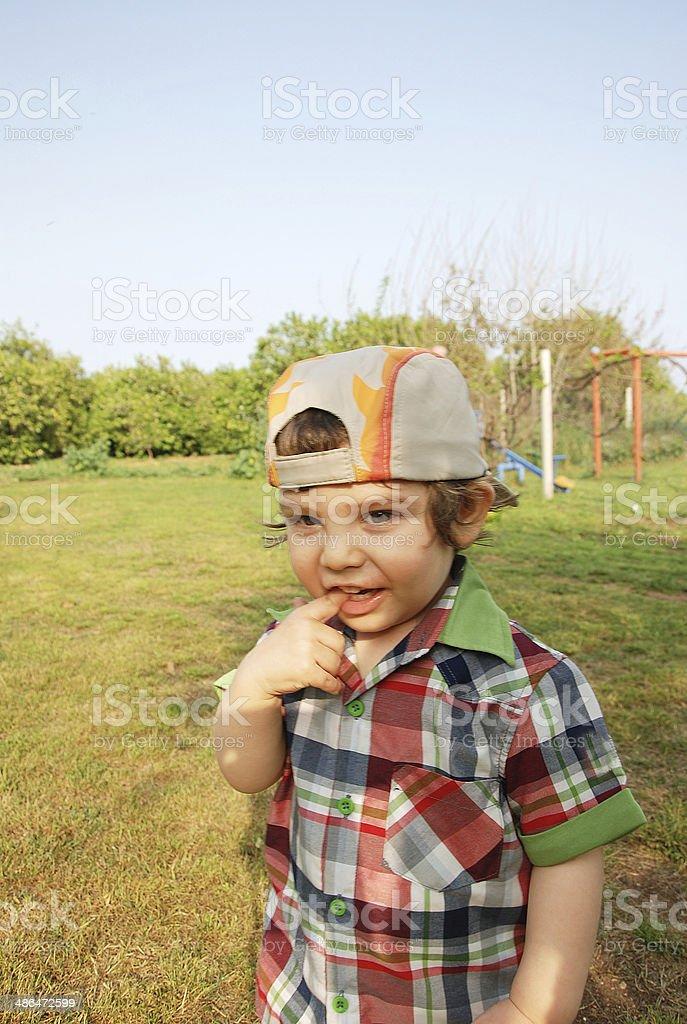 Cute Little Boy Having Fun stock photo