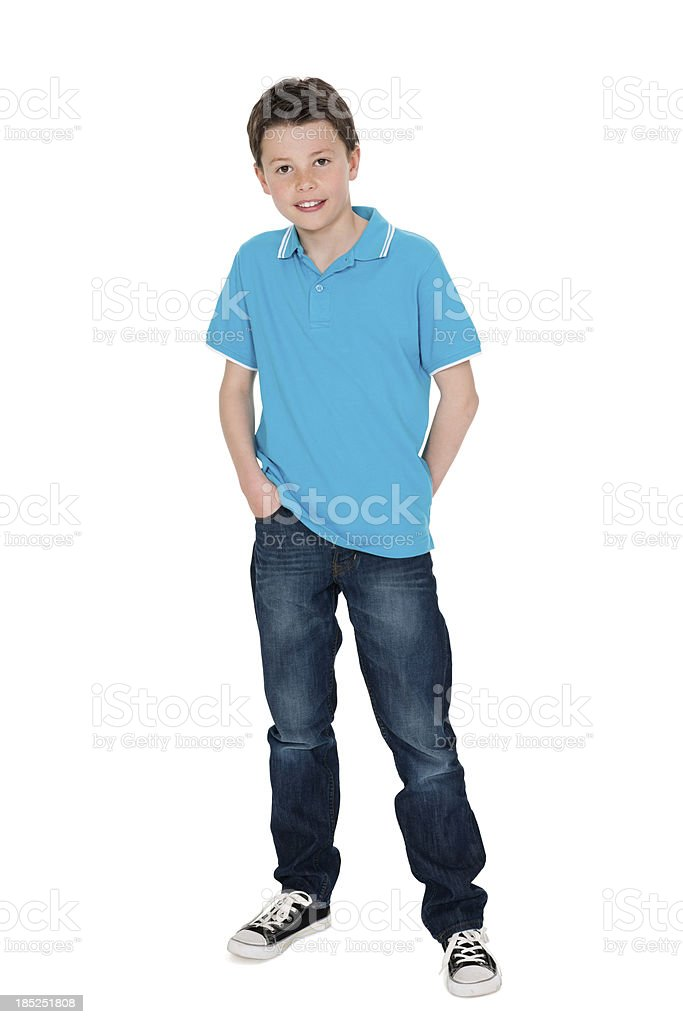 Cute Little Boy in Casuals stock photo