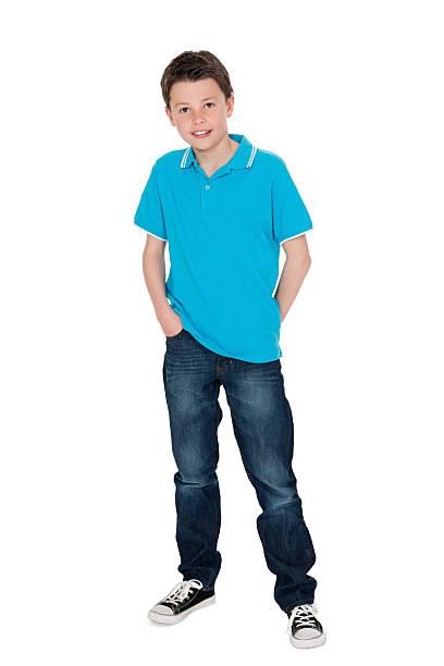 Cute Little Boy in Casuals stock photo