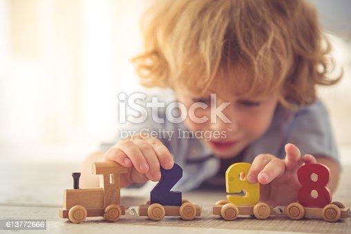 istock Cute little boy 613772666