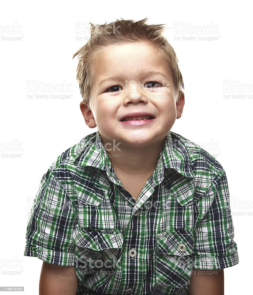 Cute little boy smiling for the viewer royalty-free stock photo