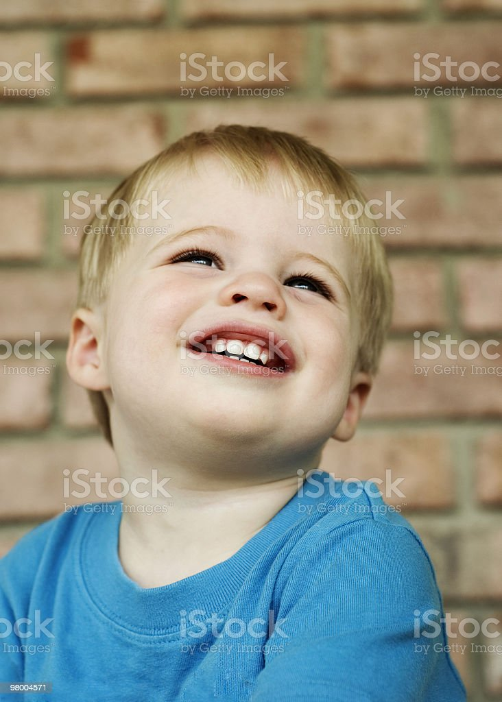 Cute Little Boy with Big Smile royalty free stockfoto