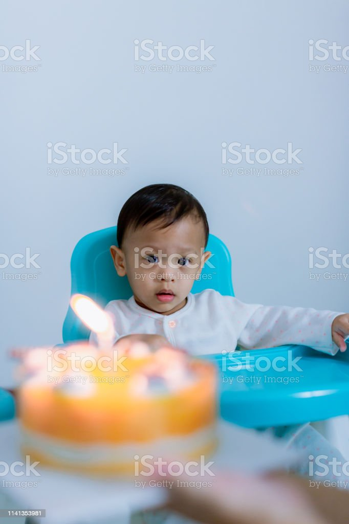Outstanding Cute Little Boy With Birthday Cake Sitting On Chair In Room Mother Birthday Cards Printable Nowaargucafe Filternl