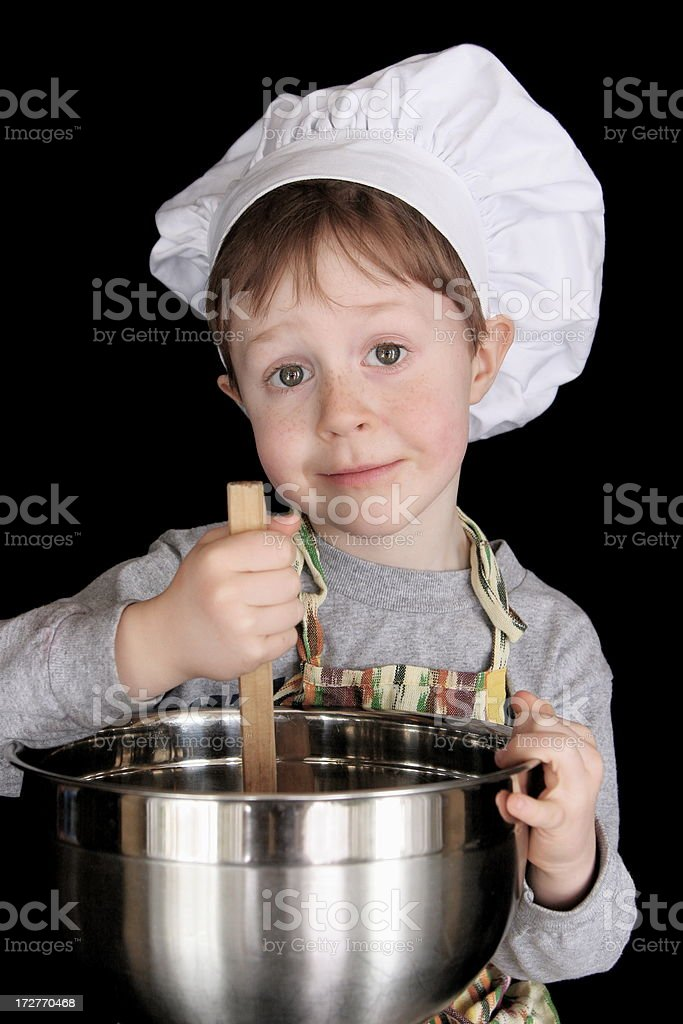 Cute Little Chef royalty-free stock photo