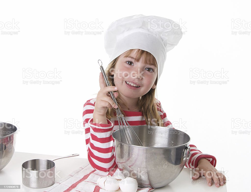 Cute Little Cook royalty-free stock photo