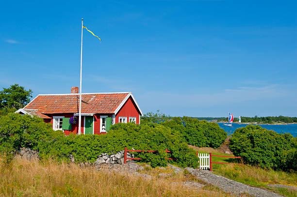 Bonito chalé no Arquipélago - foto de acervo