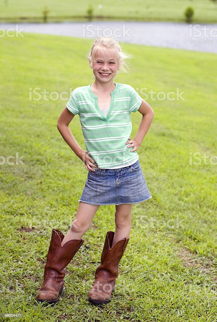 Cute Little Cowgirl royalty-free stock photo