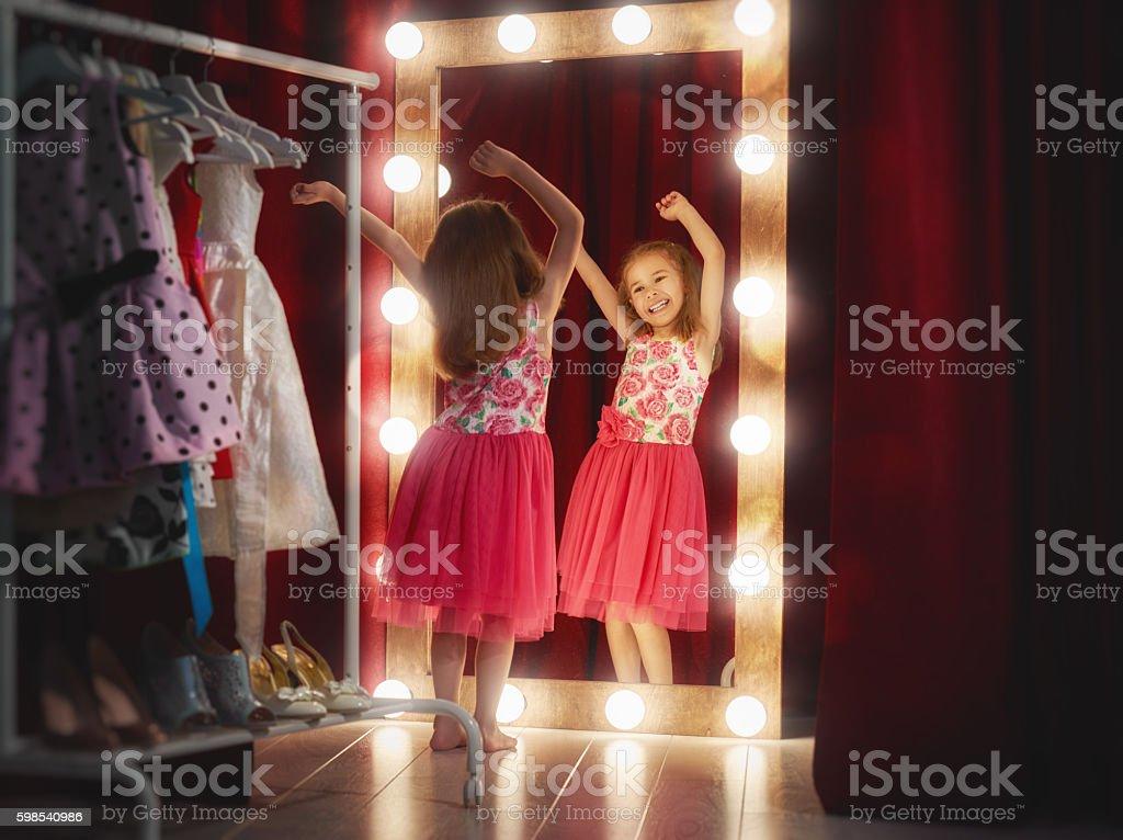 Cute little fashionista photo libre de droits