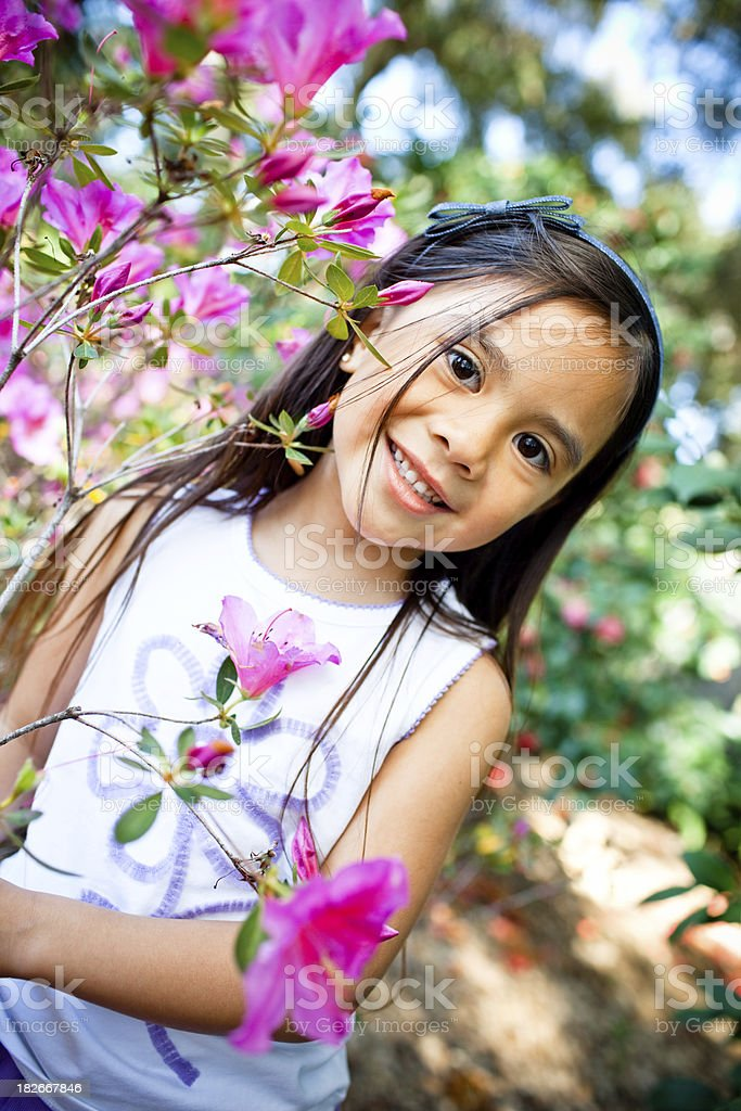 Cute little filipino girl posing by flower stock photo more cute little filipino girl posing by flower royalty free stock photo altavistaventures Image collections