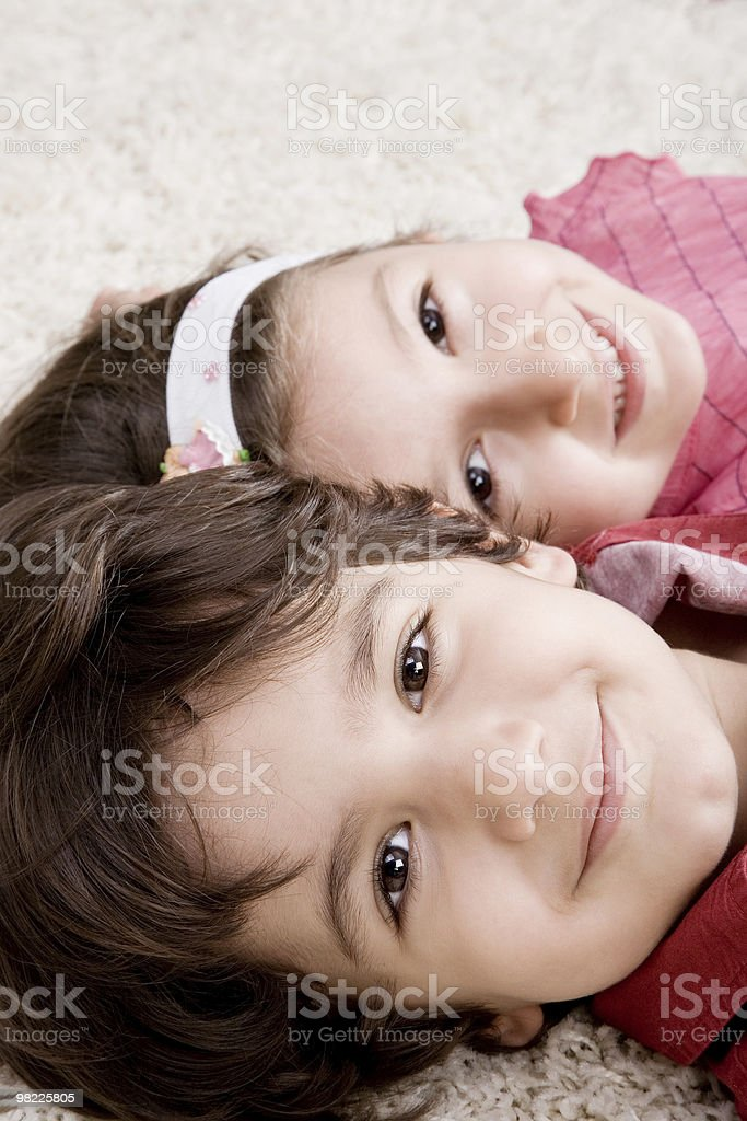 Cute little girl and boy royalty-free stock photo