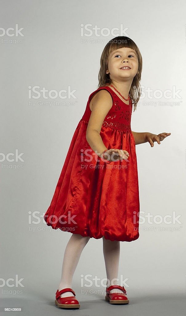 Cute little girl dancing royalty-free stock photo