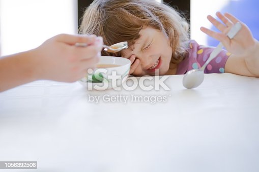 istock Cute little girl doesn