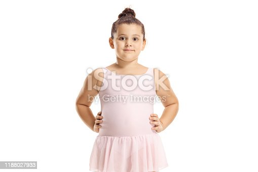 466300721 istock photo Cute little girl in a pink ballet dress 1188027933
