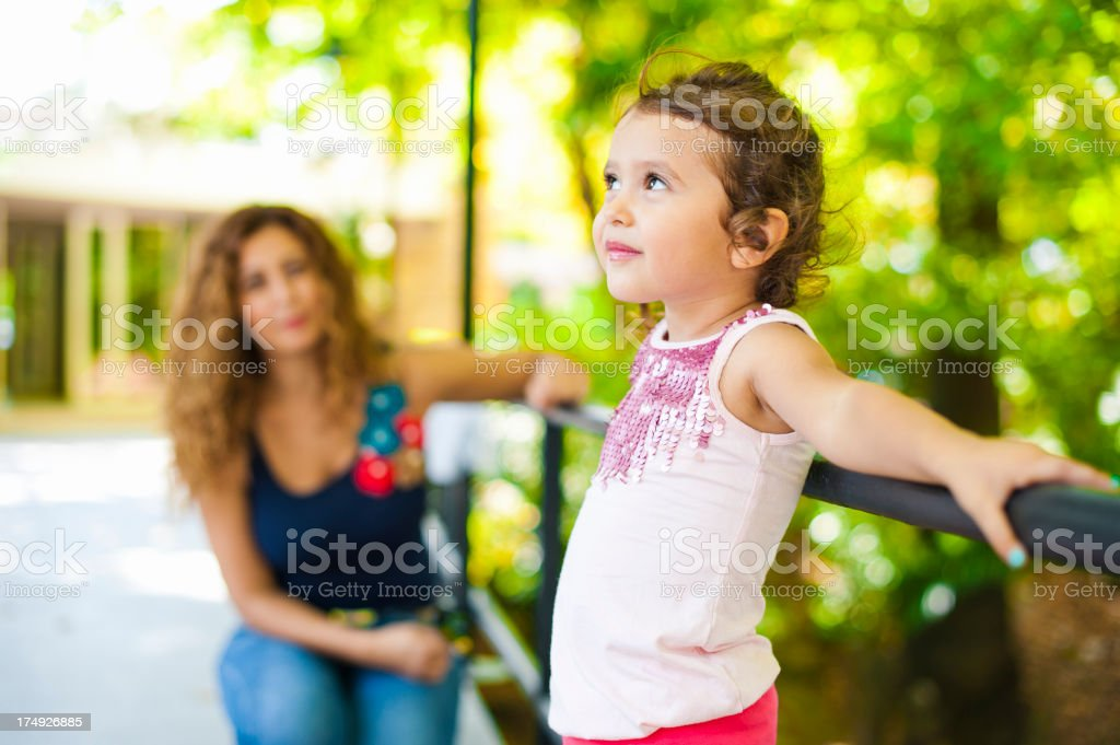 Cute Little Girl in The park royalty-free stock photo
