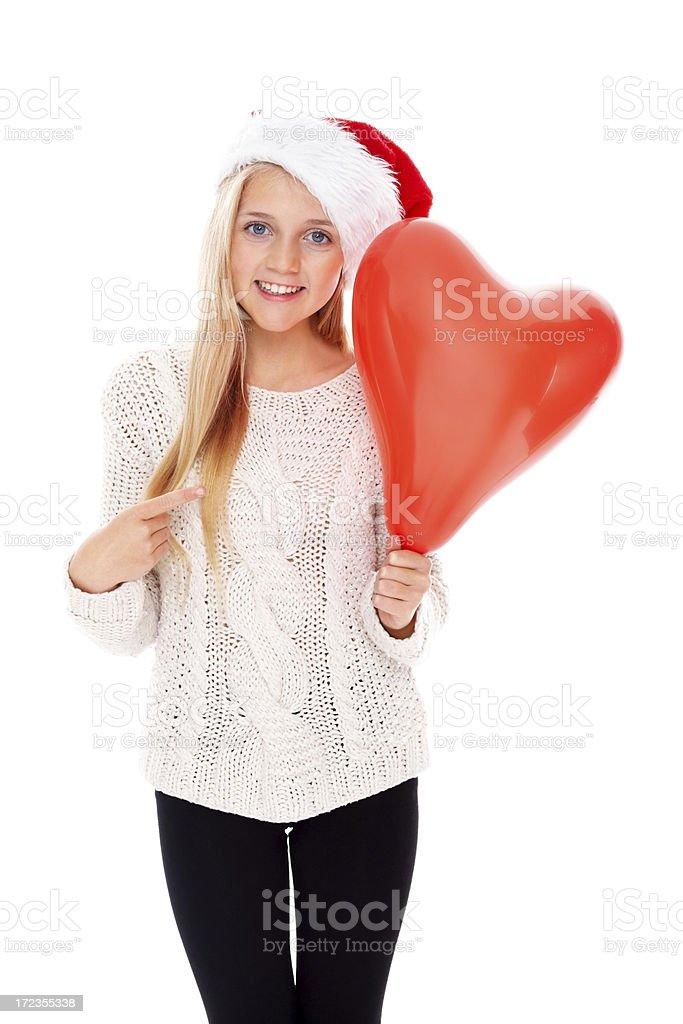 Cute little girl loves Christmas royalty-free stock photo