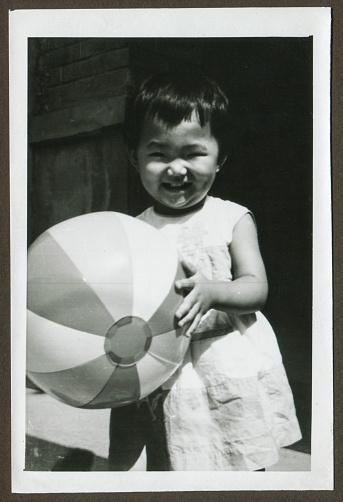 Cute little girl monochrome old photo