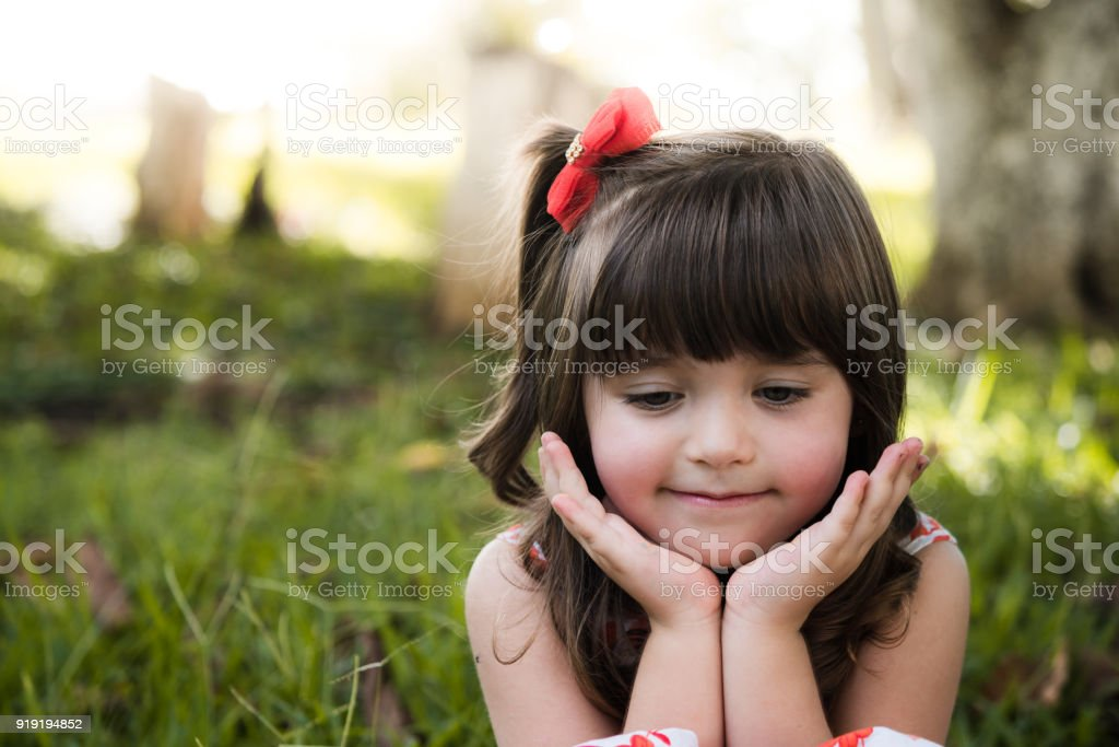 Cute little girl outdoor