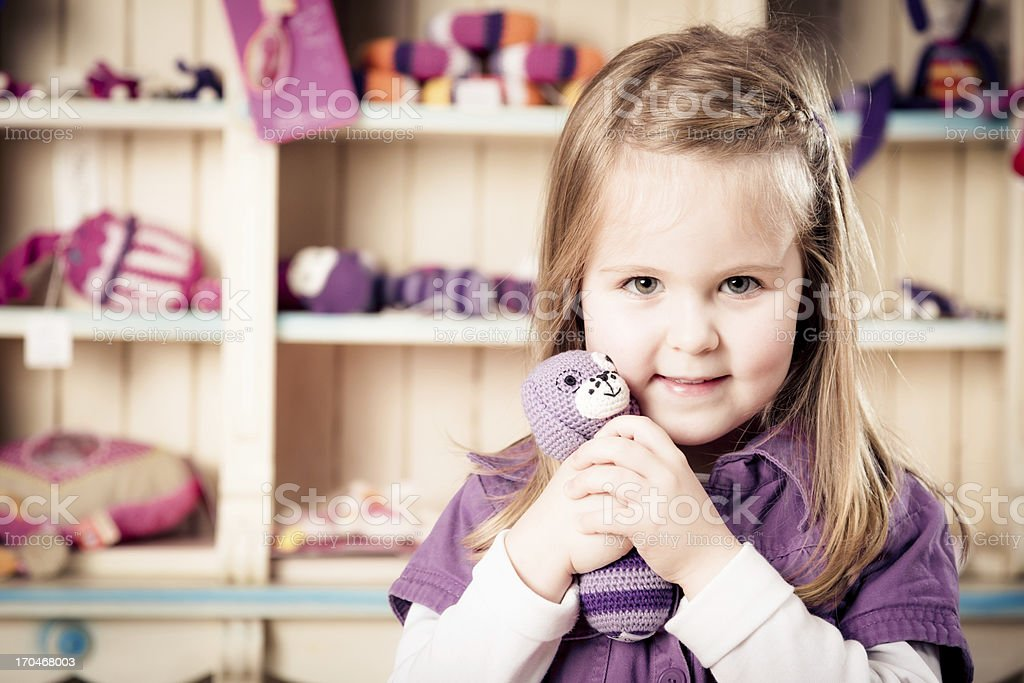 cute little girl stock photo