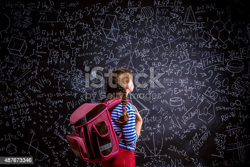 istock Cute little girl 487673346