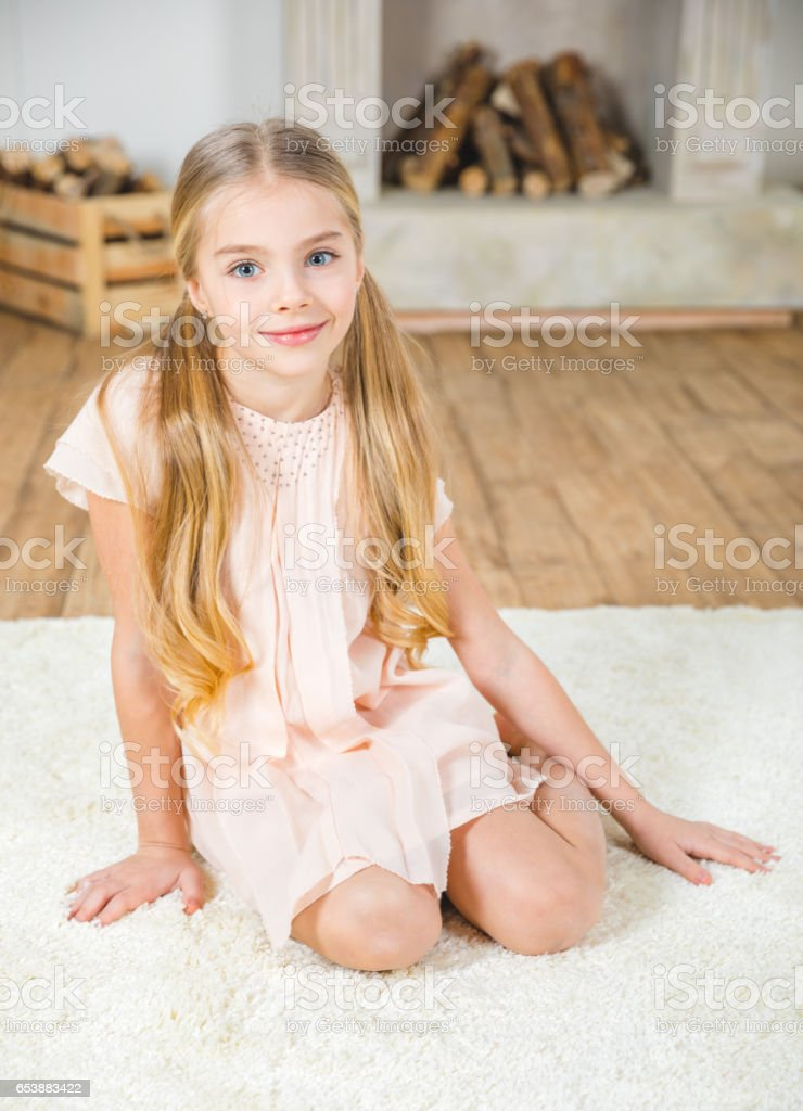 Cute Little Girl Stock Photo & More Pictures Of 10-11
