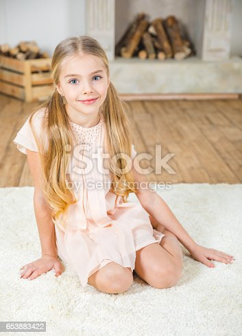 istock Cute little girl 653883422