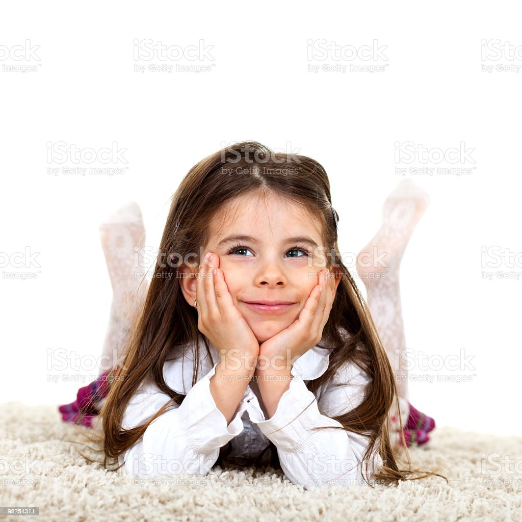Cute little girl royalty-free stock photo