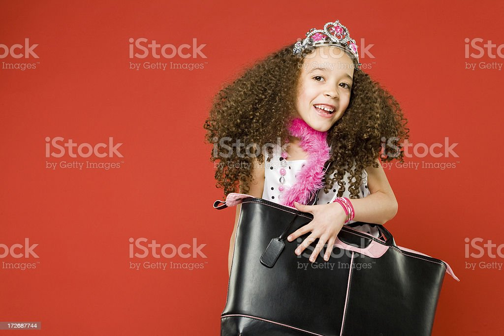 Cute Little Girl Playing Dress up! royalty-free stock photo