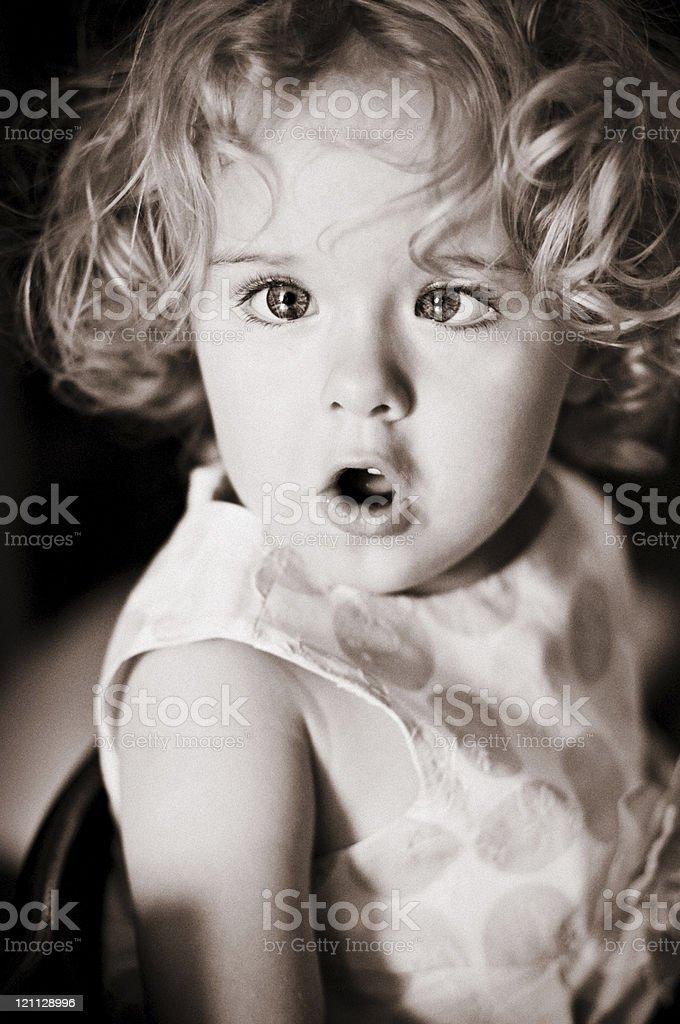 Cute Little Girl Portrait royalty-free stock photo