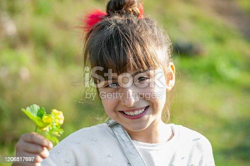 Turkish little girl happiness