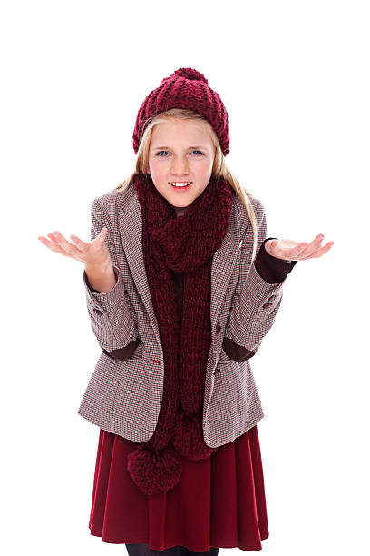 royalty free little girl with shrug gesture pictures images and