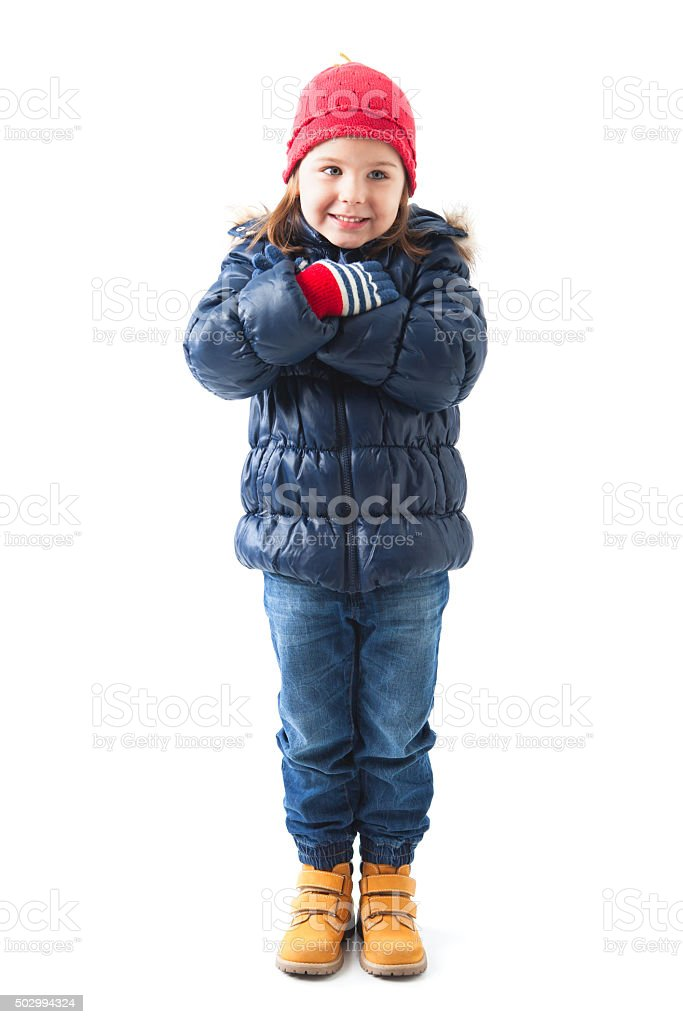 c25972903 Cute Little Girl Wearing Winter Clothes Posing Stock Photo & More ...