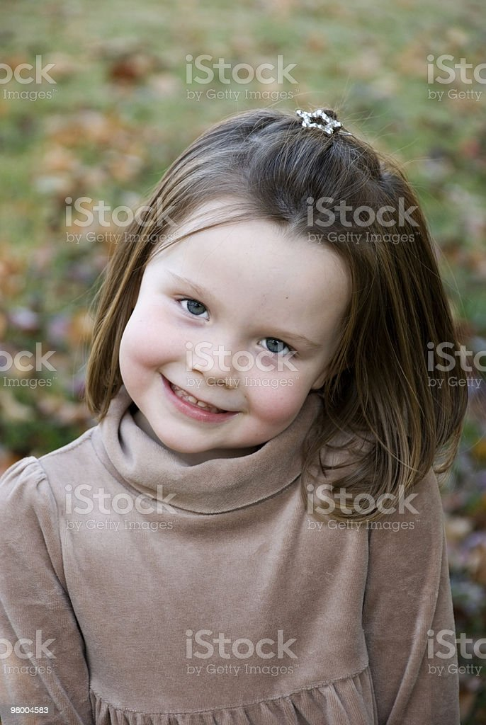 Cute Little Girl With Big Smile royalty-free stock photo