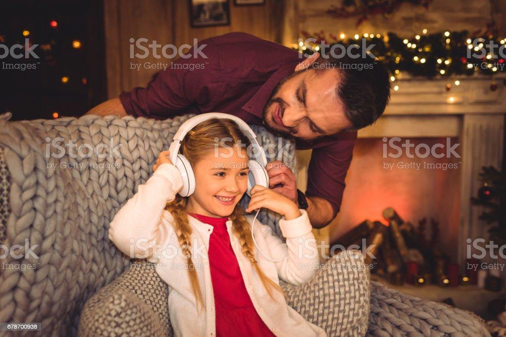 Cute little girl with father photo libre de droits