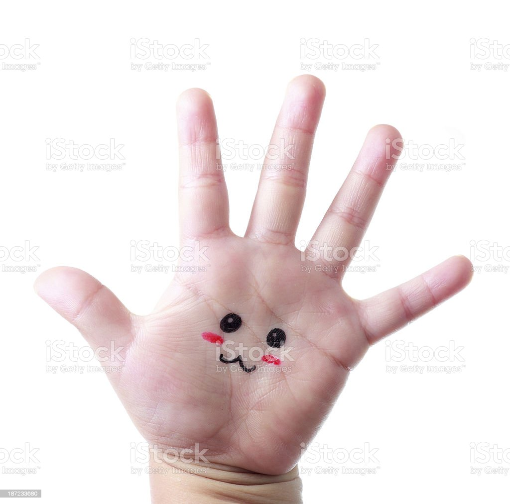 Cute little hand Face royalty-free stock photo