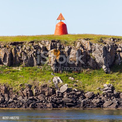 istock Cute little red lighthouse 625146270