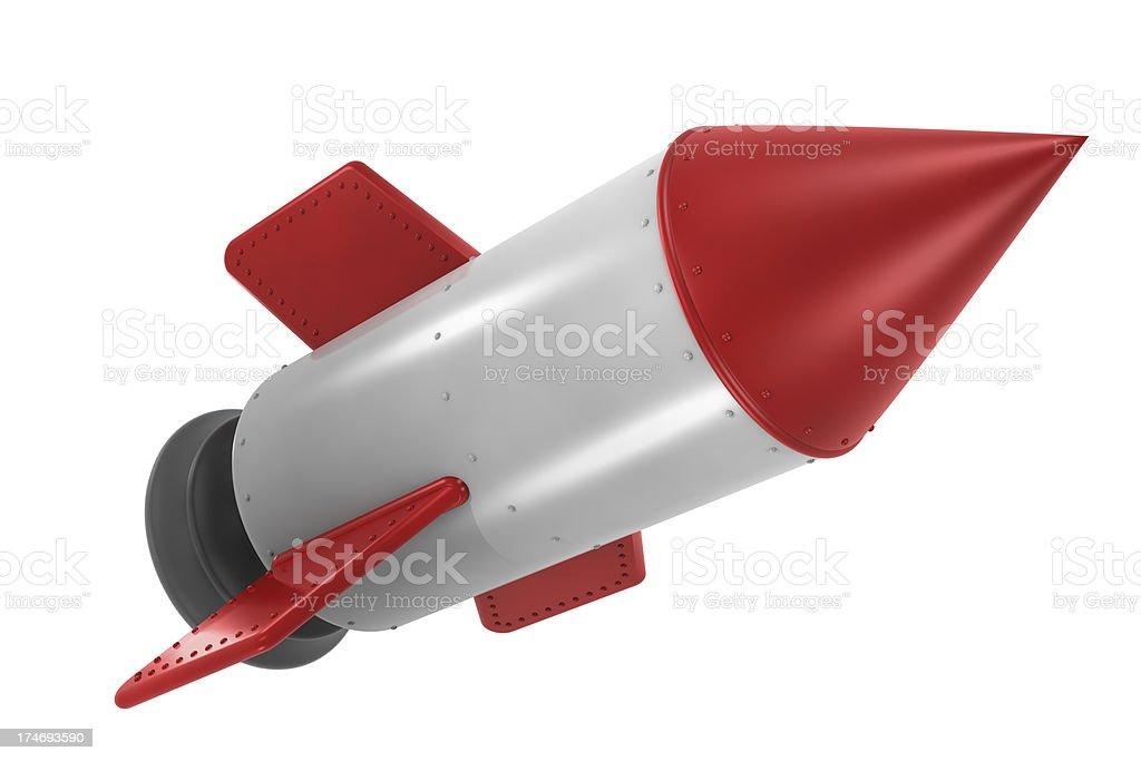 Cute Little Rocket royalty-free stock photo