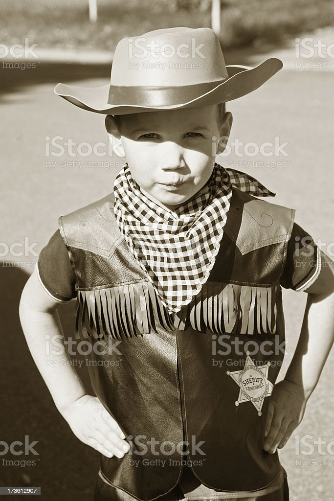 Cute little sherriff royalty-free stock photo
