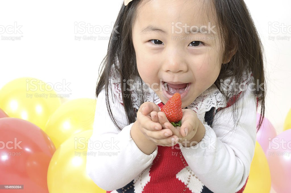 Cute little strawberry royalty-free stock photo