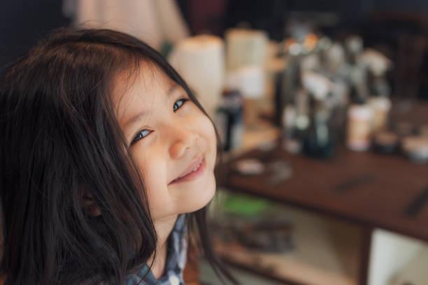 Cтоковое фото Cute Little Thai Girl smile.