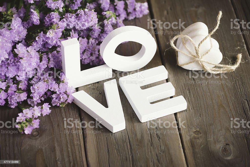 Süße Liebe Worte und Herzen – Foto