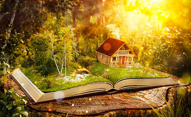Cute magical log house – Foto