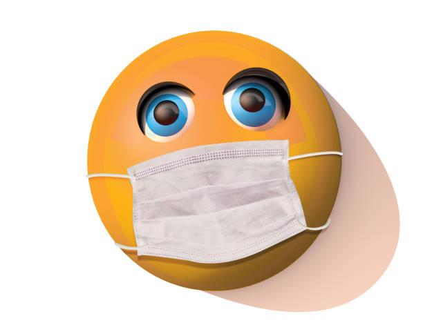 Süße maskierte Emoji – Foto