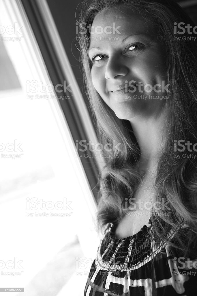Cute Mature Dimples royalty-free stock photo