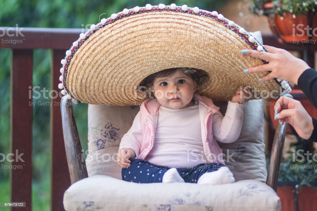 Cute mexican girl royalty-free stock photo