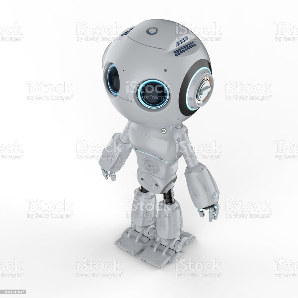 귀여운 미니 로봇 스톡 사진