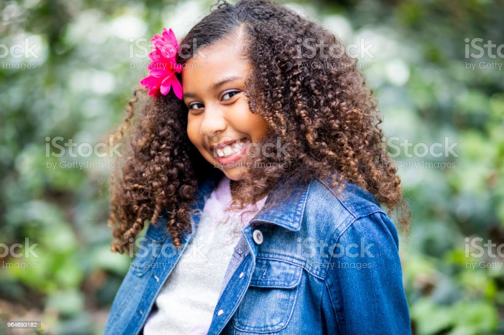 Cute Mixed Race Girl Smiling royalty-free stock photo