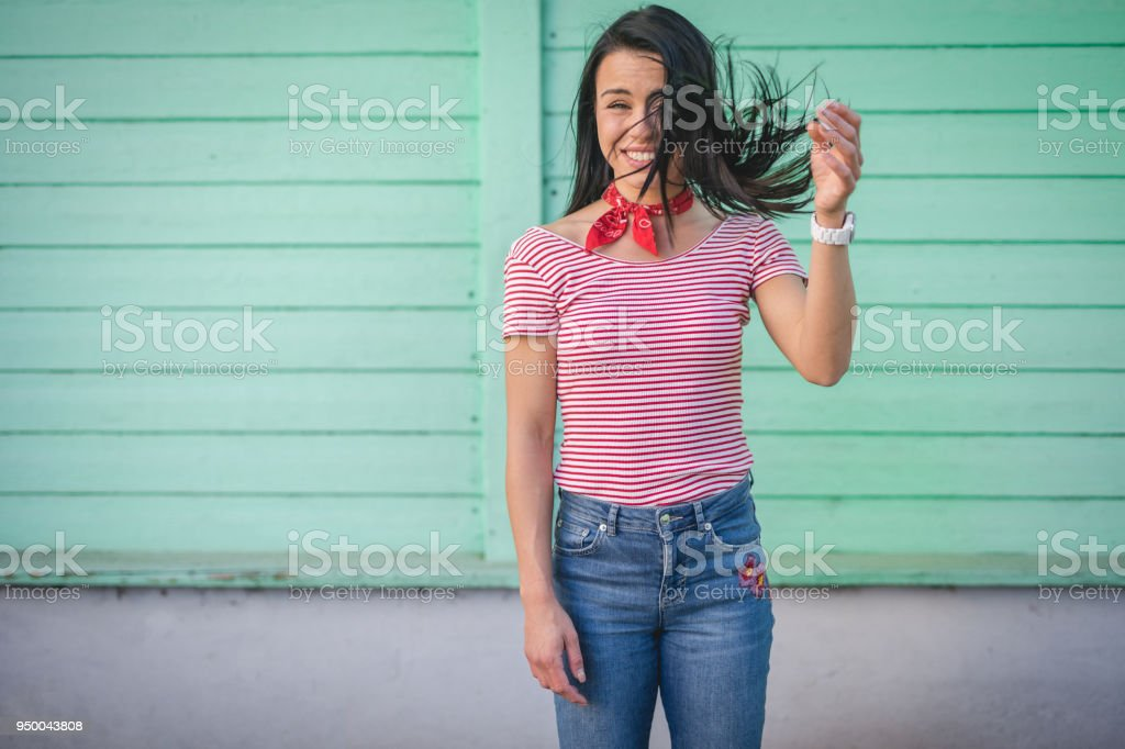 Cute modern girl - foto stock